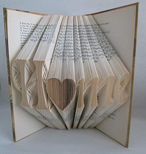 Buch Geschenk Weihnachten.Gefaltetes Buch Home Als Geschenk Z B Für Geburtstag Weihnachten