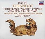 Music : Puccini - Turandot/Sutherland · Pavarotti · Caballé · Ghiaurov · Krause · Pears · LPO · Mehta