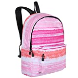 Cheap Girls Multicolor Striped School Backpack Travel Activities Book Bag, 15-Inch