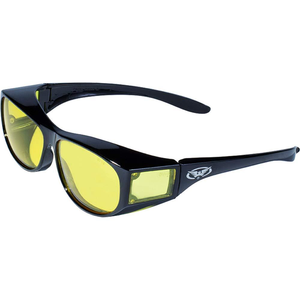 Global Vision Eyewear Escort Safety Glasses, Yellow Tint Lens
