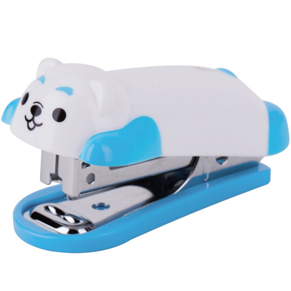 starlit Fashion Mini Cartoon Dog Desktop Stapler Home Office Stationery with Staples Child Gift