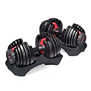 With just the turn of a dial you can automatically change your resistance from 5 lbs. all the way up to 52.5 lbs of weight. No more picking up 30 different dumbbells to get the results you want, these adjustable dumbbells replace 15 sets of weights! ...