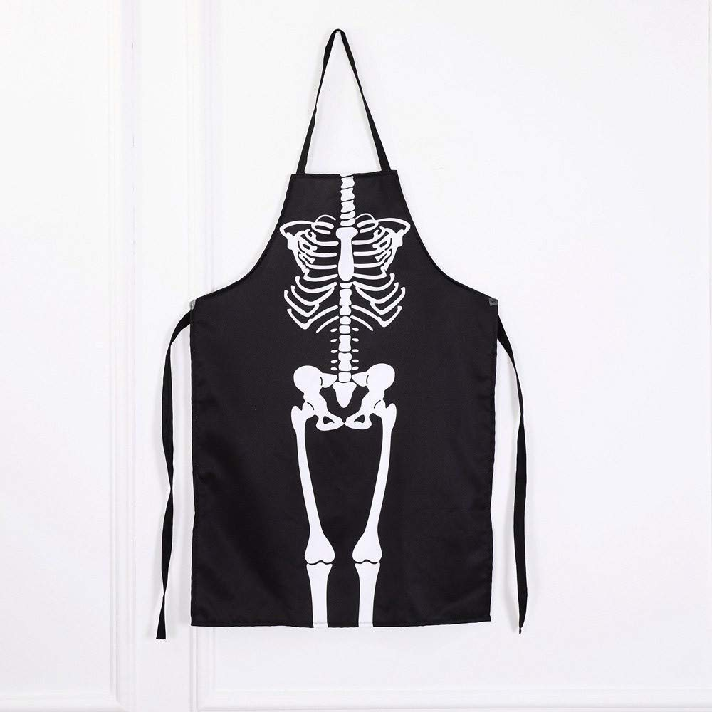 Lovewe 1PCS Kitchen Cosplay Horror Chef,Halloween Skeleton Apron Costume Party Supplies by Lovewe_Halloween Decoration (Image #1)