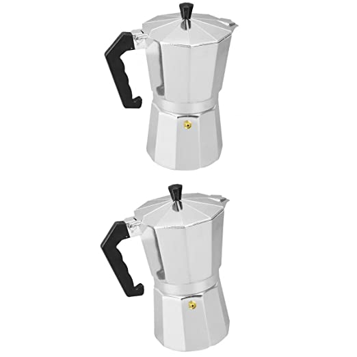 FITYLE 2 Piezas Cafetera de Aluminio Moka Olla Espresso Latte ...