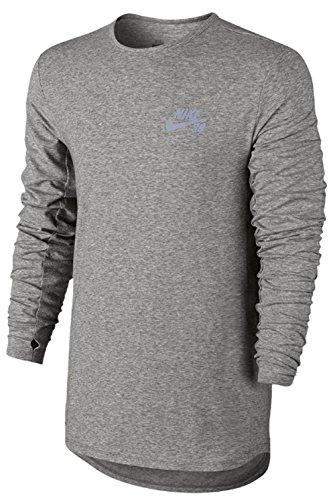 Nike SB Skyline Dri-FIT Men's Shirt, Dark Grey Heather, Medium