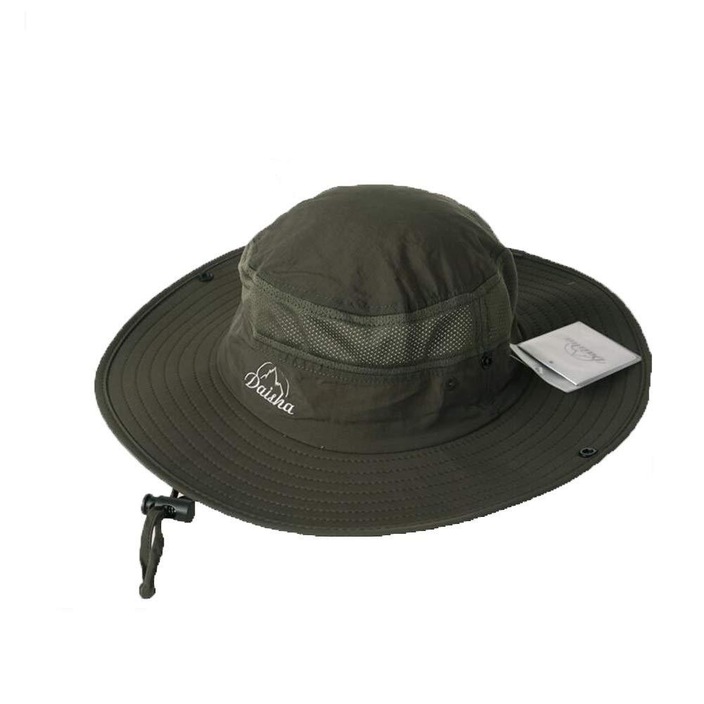 ZX Cappellini Cappello da Sole Uomini Lato Largo Secchio cap Protezione Solare Cappello di Bush Pieghevole Cappello da Pescatore Impermeabile allAria Aperta Accessori