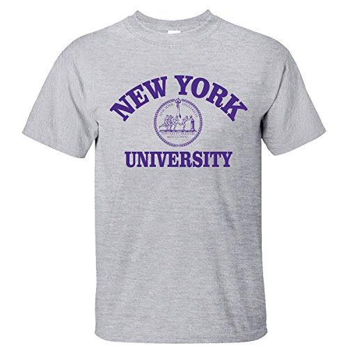 Xnovo Mens Short Sleeves New York University Nyu Private University Cool T Shirt Grey M