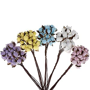 Endand 10/pcsScented Home Wedding Party Decoration Natural Cotton Color Single Dried Flowers DIY Crafts from Artificial Flowers 80