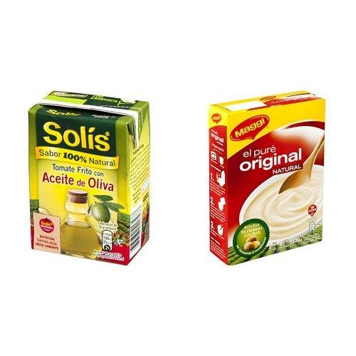Solis - Tomate Frito Aceite de Oliva (400 g) + Maggi - Puré de