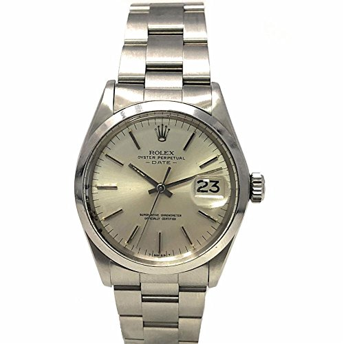 Rolex Date Swiss-Automatic Male Watch 1500 (Certified (Pre Owned Mens Rolex)