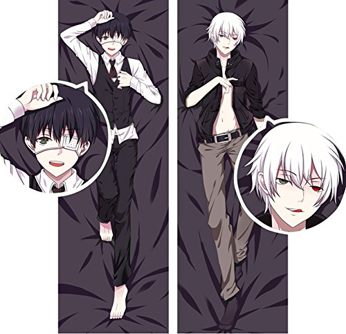 Uniquely Home Decor Hot! Japan Anime (Tokyo Ghouls) Pillowcase Body Size Double Sided Bolster Bedclothes Pillow Cover 50150cm