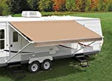 Solid Tan/Light Brown Replacement Canopy/Fabric for a 17' Awning