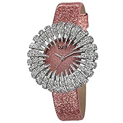 Crystal Accented Sparkling Dial Women's Watch