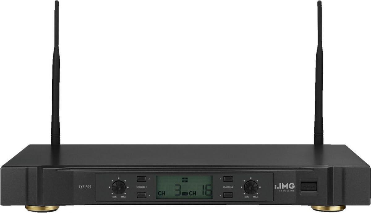 IMG STAGELINE TXS-895 2-Kanal-Multi-Frequenz-Empf/ängereinheit schwarz