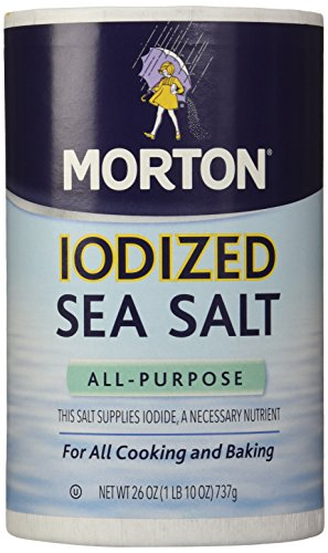 Morton Salt Iodized Sea Salt, 26 oz, 2 pk