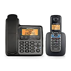 Motorola Dect 6.0 Corded Base Phone With Cordless Handset, Digital Answering System & Mobile Bluetooth Linking L702cbt