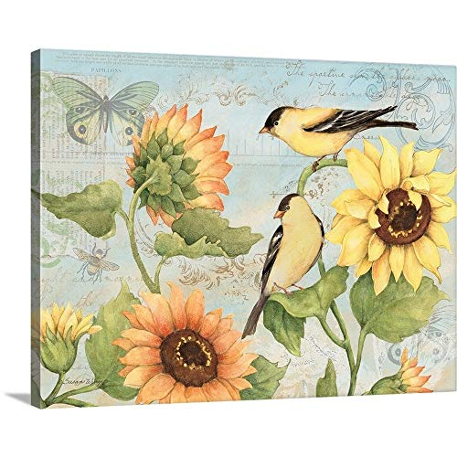 GREATBIGCANVAS Gallery-Wrapped Canvas Entitled Sunflowers by Susan Winget 48