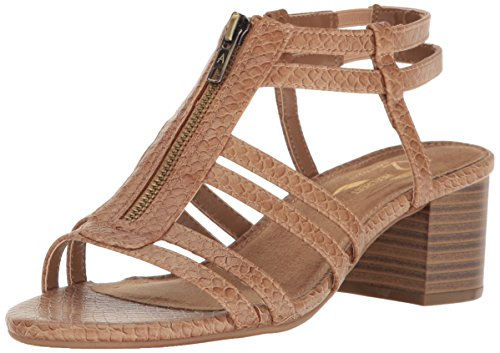 A2 by Aerosoles Women's Mid Range Dress Sandal, Light Tan Snake, 8.5 M US