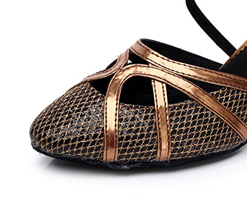 UK6 Latin Mujer Neto Dance Shoes Flash Salsa La heeled8cm Té Tacones De Samba Tango EU39 Jazz Sandalias Shoes JSHOE Modern PhotoColor Our40 Altos SRAWqXq