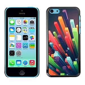 rígido protector delgado Shell Prima Delgada Casa Carcasa Funda Case Bandera Cover Armor para Apple Iphone 5C /3D Abstract Art Plastic/ STRONG