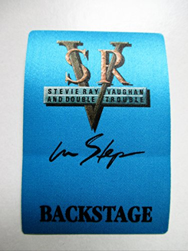 1989-90 Stevie Ray Vaughan Backstage Pass in Step Backstage Blue