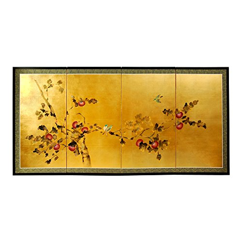 Oriental Furniture Gold Leaf Cherry Blossom - 24