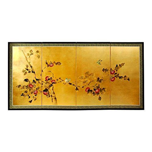(Oriental Furniture Gold Leaf Cherry Blossom - 24