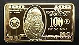 Rare United States $100 Bill Gold Plated Bullion Bar - Shipped from USA