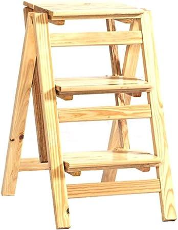 Table lamp tribe XZGang Pasos 2/3 Pasos sólidos de Madera Plegable escaleras de Tijera, Tijera Plegable heces/Almacenamiento en Rack con Mango/Imagen Estante de Libro for niños casa: Amazon.es: Hogar