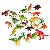 Best dazzling toys Kids Birthday Gifts - MagiDeal 24 Pieces Plastic Dinosaur Figurine Animal Action Review