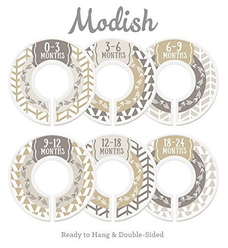 Modish Labels Baby Nursery Closet Dividers, Closet Organizers, Nursery Decor, Gender Neutral, Baby Boy, Baby Girl, Woodland, Arrow, Tribal, Tan, Beige, Brown
