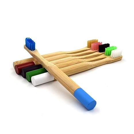KEKEDA Cepillo de Dientes de bambú, Respetuoso con el Medio Ambiente, Cepillo de Dientes