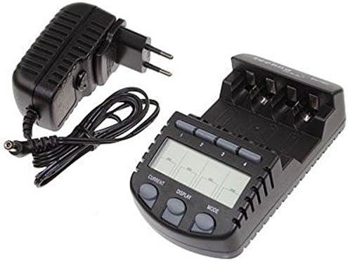 La Crosse Technology RS700/Cargador de Pilas con Pantalla LCD