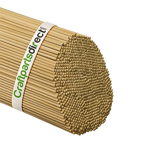 Wooden Dowel Rods - 1/8 x 36 Unfinished Hardwood Sticks - For Crafts and DIYers - Craftparts Direct - Bag of 100