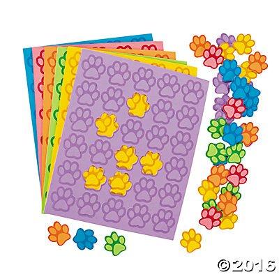 Paw Print Foam Shapes - 500 pcs (Foam Print)