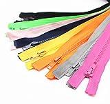 zipper for sewing - YaHoGa 10PCS 28 Inch (70cm) Separating Jacket Zippers for Sewing Coat Jacket Zipper Heavy Duty Plastic Zippers Bulk 10 Colors Mixed (1pcs per color)