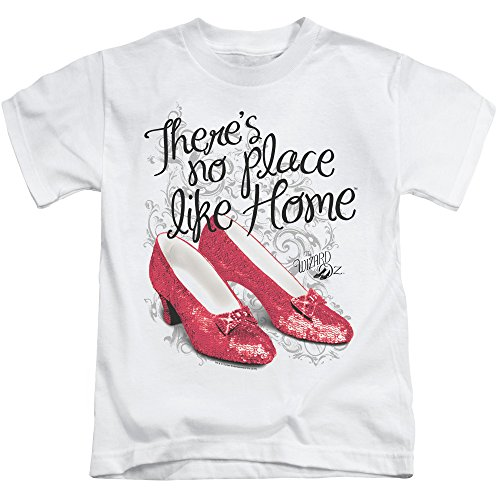 Wizard Of Oz Ruby Slippers Little Boys Juvy Shirt (White, 5 6)