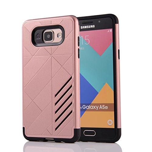 Tough Hybrid Dual Layer Case for Samsung Galaxy A510 A5 2016 (Gold) - 4