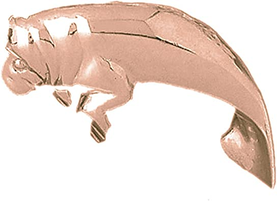 14K Rose Gold-plated 925 Silver Manatee Pendant with 16 Necklace Jewels Obsession Manatee Necklace