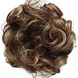 PRETTYSHOP Hairpiece Hair Rubber Scrunchie Scrunchy Updos VOLUMINOUS Curly Messy Bun Light brown mix G16E_30T26