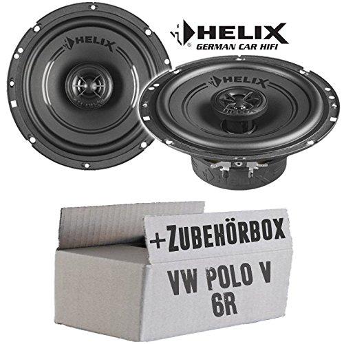 VW Polo 6R Front Heck - Lautsprecher Boxen Helix - F 6X - 16cm Koax Auto Einbausatz - Einbauset JUST SOUND best choice for caraudio VWPo6R_F622610
