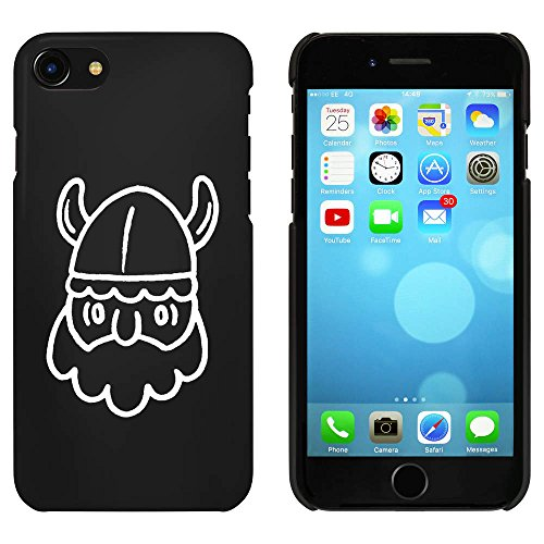 Noir 'Tête Viking' étui / housse pour iPhone 7 (MC00081299)