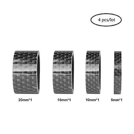 "15mm Matte 3K Finish 4 PCS 1 1//8/"" Carbon Headset Spacer 5mm 20mm 10mm"
