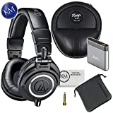 Audio-Technica ATH-M50x Monitor Headphones (Black) + Premium Headphone Bundle