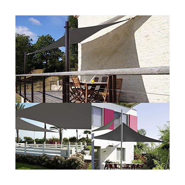 51%2BKcDvkflL TOPLUS Sonnensegel Sonnenschutz Garten Balkon Wetterschutz wasserabweisend Rechteckig 420D PES UV-Schutz für Garten…