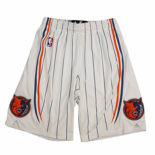 adidas Charlotte Bobcats NBA White Authentic On-Court Climacool Team Game Shorts for Men (XLT)