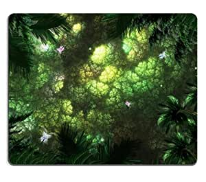 Jungle Trees Plants Green Life Bugs Mouse Pads Customized Made to Order Support Ready 9 7/8 Inch (250mm) X 7 7/8 Inch (200mm) X 1/16 Inch (2mm) High Quality Eco Friendly Cloth with Neoprene Rubber MSD Mouse Pad Desktop Mousepad Laptop Mousepads Comfortable Computer Mouse Mat Cute Gaming Mouse_pad