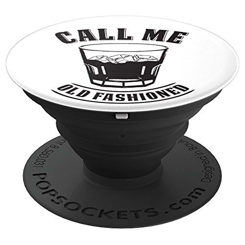 Old Fashioned Whiskey Drink Whisky Rocks Fan Bourbon Rye - PopSockets Grip and Stand for Phones and Tablets