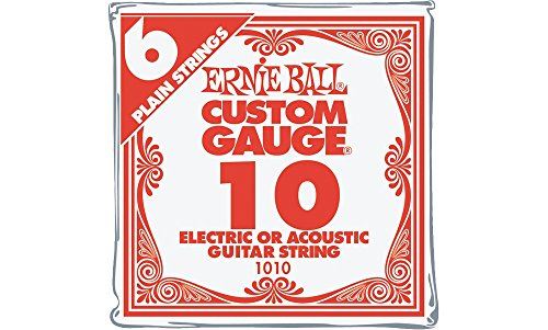 Ernie Ball Nickel Plain Single Guitar String .010 6-Pack by Ernie Ball