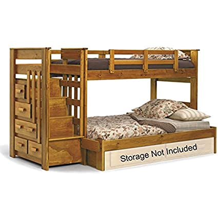 Amazon Com Chelsea Home Furniture 36500 Twin Over Full Bunk Bed